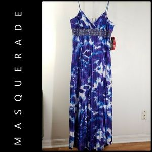 Masquerade Woman Beaded Long Gown Size 20 / 21